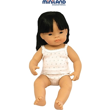 Miniland Educational® Baby Dolls Asian Girl, 38 cm(L)