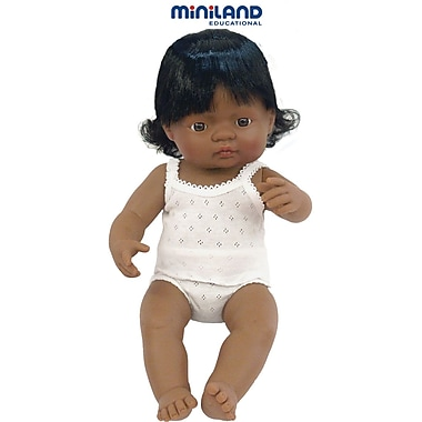 Miniland Educational® Baby Dolls Hispanic Girl, 38 cm(L)