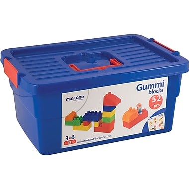 Miniland Educational® Gummi Block, 52 Pieces/Set
