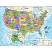 National Geographic Maps Political Series USA Map, Grades 4th - 12th