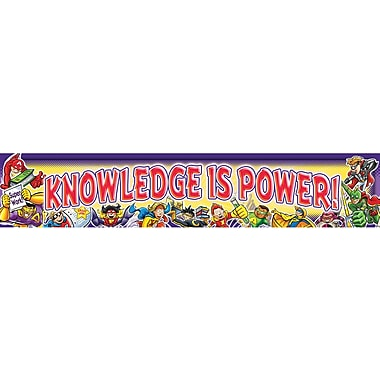 North Star Teacher Resources® Kindergarten - 6th Grades Superheroes Banner, Knowledge is Power
