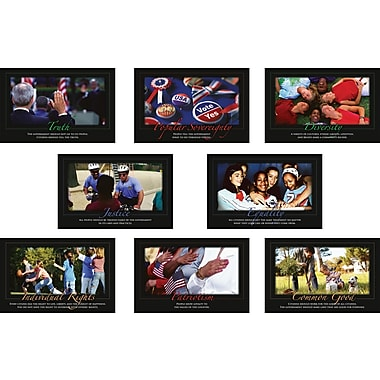 North Star Teacher Resources® Bulletin Board Set, Core Democratic Values