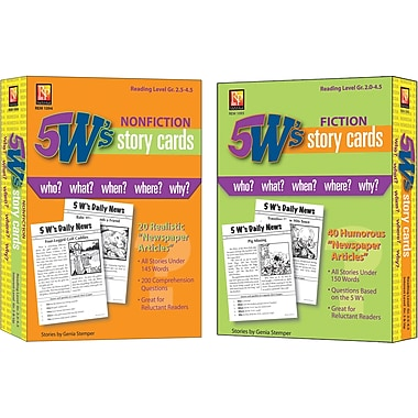 Remedia® Publications 5 W's Story Cards Set, Grades 2nd - 4th