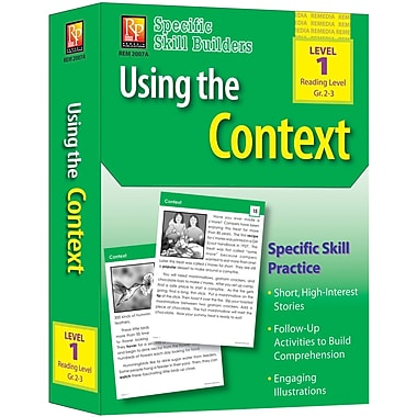Remedia® Specific Skill Builder Using the Context Book, Grades Pre School - 1st