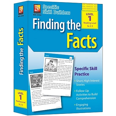 Remedia® Specific Skill Builder Finding the Facts Book, Grades Pre School - 1st