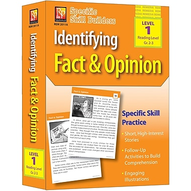 Remedia® Identifying Fact and Opinion Book, Grades Pre School - 1st