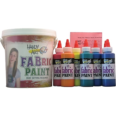 Handy Art Non-toxic Fabric Paint Sparkle Kit (RPC885050)