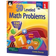 Shell Education® 50 Leveled Math Problems Book, Level 1
