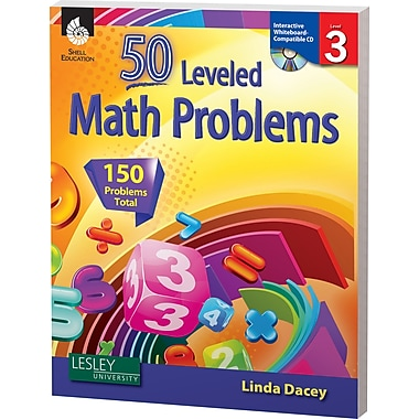 Shell Education® 50 Leveled Math Problems Book, Level 3