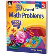 Shell Education® 50 Leveled Math Problems Book, Level 3