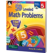 Shell Education® 50 Leveled Math Problems Book, Level 5