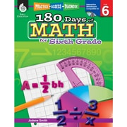 Shell Education 18 Days of Math Workbook, Grades 6th