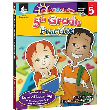 Shell Education® Bright and Brainy Practice Book and CD, Grades 5th