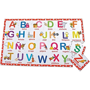 Smart Play® Bilingual Puzzle, Alphabet, English/Spanish