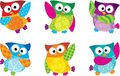 """""TREND T-10880 3"""""""" DieCut Mini Owl Accents, Multicolor"""""" 139815"
