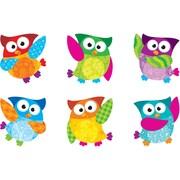 "TREND T-10880 3"" DieCut Mini Owl Accents, Multicolor"