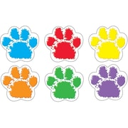 "TREND T-10982 6"" DieCut Paw Prints Classic Accents, Assorted"