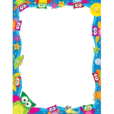 Trend Enterprises® 8 1/2in. x 11in. Owl Stars Terrific Paper
