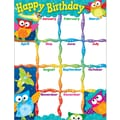 Trend Enterprises® Owl Stars™ Learning Chart, Happy Birthday