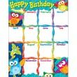 Trend Enterprises® Owl Stars™ Learning Chart, Happy Birthday
