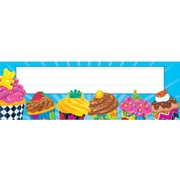 Trend Enterprises® Pre Kindergarten - 4th Grades Name Plate, Cupcakes