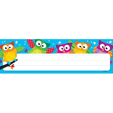 Trend Enterprises® Pre Kindergarten - 4th Grades Name Plate, Owl-Stars!