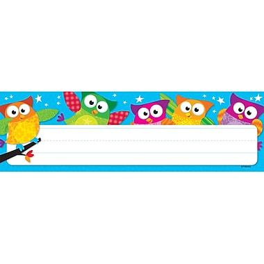 Trend Enterprises® Pre Kindergarten - 4th Grades Name Plate, Owl-Stars!