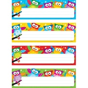 Trend Enterprises® PreKindergarten - 4th Grades Name Plates Variety Pack, Birds and Owls