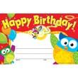 Trend Enterprises® Owl-Stars!™ Recognition Award, Happy Birthday