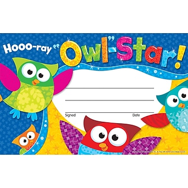 Trend Enterprises® Recognition Award, Hooo-ray Owl-Star!