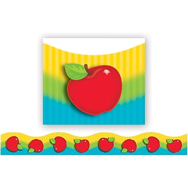 Trend Enterprises® Pre Kindergarten - 9th Grades Scalloped Terrific Trimm, Shiny Red Apples