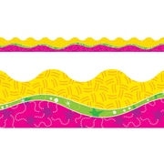 Trend Enterprises® Owl-Stars™ Pre Kindergarten - 9th Grades Scalloped Terrific Trimm, Pink Pattern