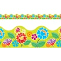 Trend Enterprises® Pre Kindergarten - 9th Grades Scalloped Terrific Trimm, Floral Garden