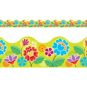 "TREND T-92362 39' x 2.25"" Scalloped Floral Garden Terrific Trimmer, Multicolor"
