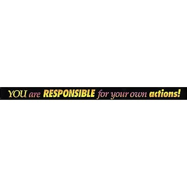 Trend Enterprises® ARGUS® 2nd - 12th Grades Banner, You Are Responsible for