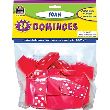 Teacher Created Resources® Foam Dominoes, Red