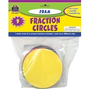 Teacher Created Resources® Foam Fraction Circles, Grades Kindergarten+