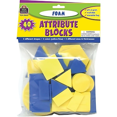 Teacher Created Resources® Foam Attribute Blocks, Grades preschool+