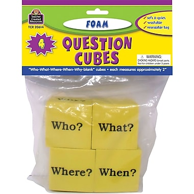 Teacher Created Resources® Foam Question Cubes, Grades Kindergarten+