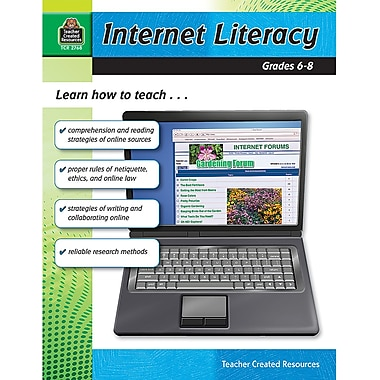 Teacher Created Resources Internet Literacy Book, Grades 6th - 8th
