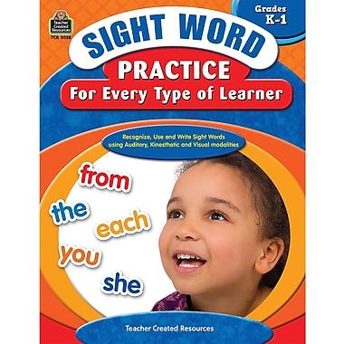 Teacher Created Resources® Sight Word Practice Learner Book, Grades Kindergarten - 1st