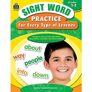 Teacher Created Resources® Sight Word Practice Learner Book, Grades 1st - 2nd