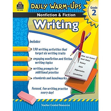 Teacher Created Resources® Daily Warm Ups Nonfiction and Fiction Writing Book, Grades 2nd