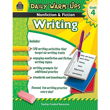 Teacher Created Resources® Daily Warm Ups Nonfiction and Fiction Writing Book, Grades 4th