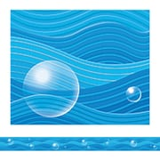 "Teacher Created Resources TCR4745 35"" x 3"" Straight Waves Border Trim, Blue"
