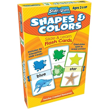 Teacher Created Resources® Shapes and Colors Slide and Learn Flash Cards, Grades Preschool-K