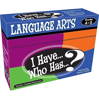 Teacher Created Resources® I Have, Who Has Language Arts Game, Grades 4th - 5th