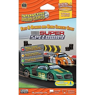Teacher Created Resources® Super Speedway Computer Game CD, Grades 4th - 5th