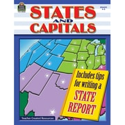 Teacher Created Resources States and Capitals Work Book, Grades 4th - 5th