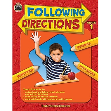 Teacher Created Resources Following Directions Book, Grades 1st